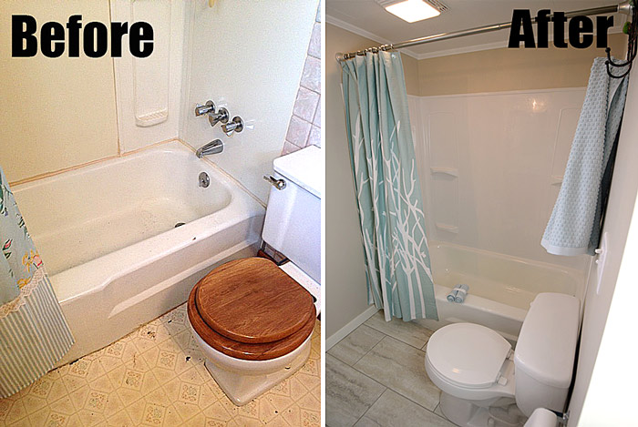 Follow This Flip Bathroom Before And After Living Rich
