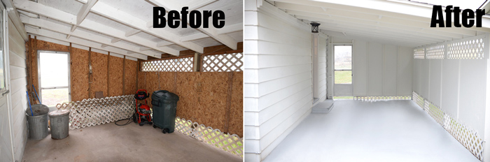 Carport renovation on a tight budget