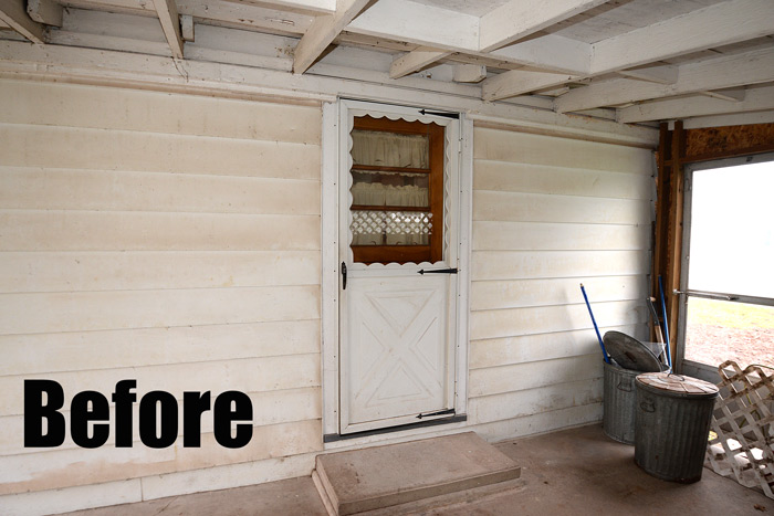 Side Door Transformation At The Flip Houseliving Rich On Less