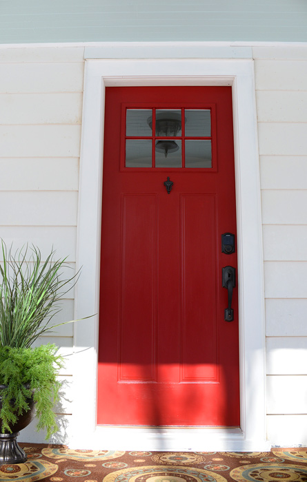 Schlage-red-front-door