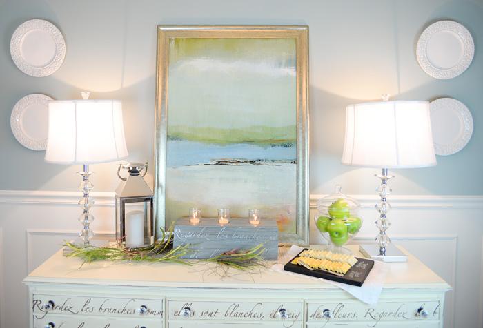 Stenciled-candleholder