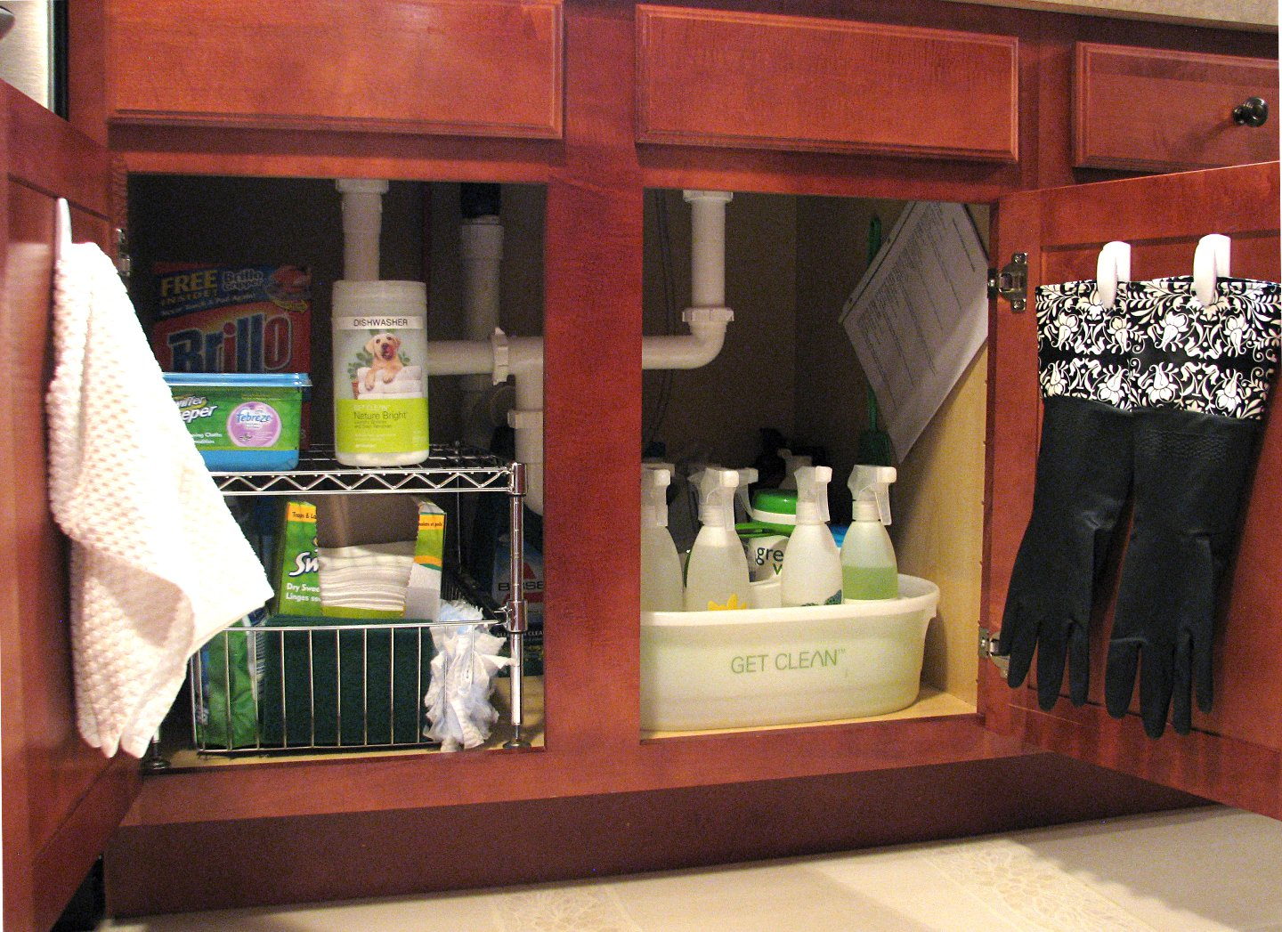 organize under the kitchen sink organize the sink archives living rich on 7218