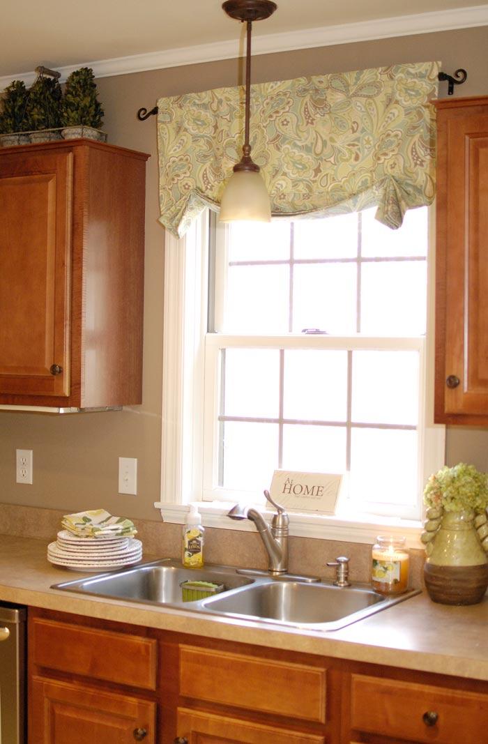 kitchen curtain designs how to make easy curtainsliving rich on less 1055