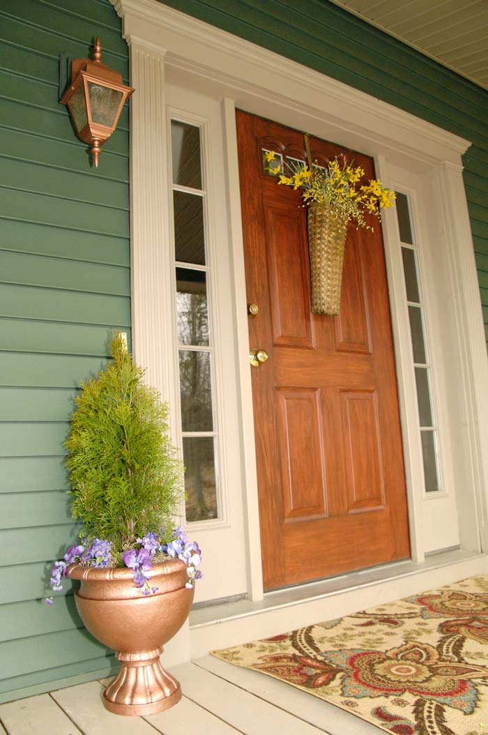 Spring Front Porch Decor Plus A Flower Pot Redo Living