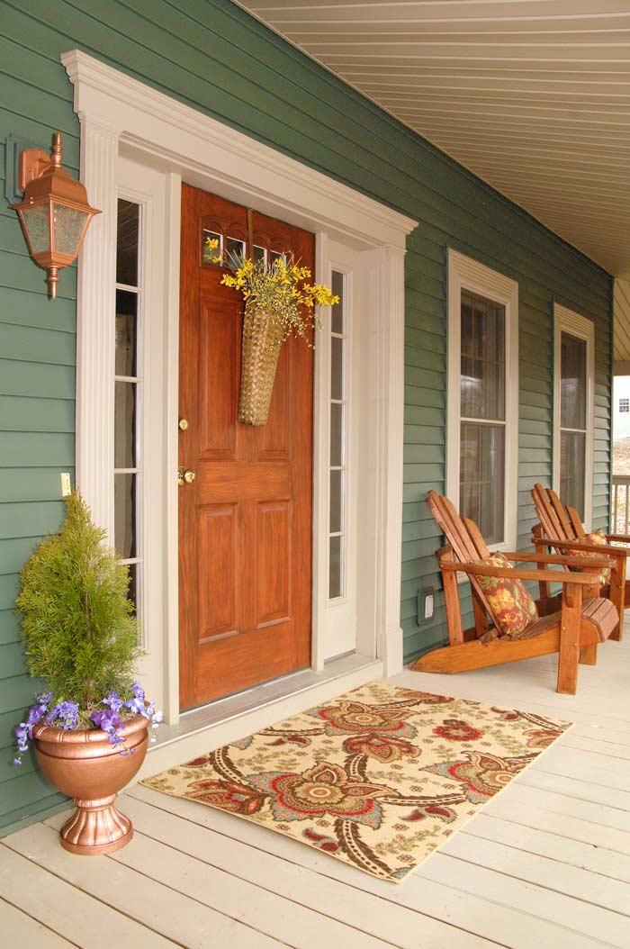 Spring Front Porch Decor Plus A Flower Pot Redo Living