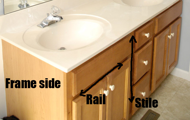 Bathroom Vanity Makeover Plus How To Brush Paint Cabinets