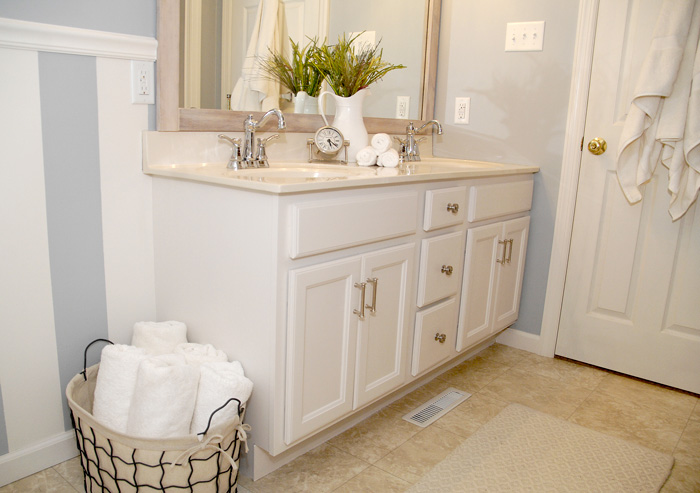 Bathroom Cabinet Transformation Living Rich On