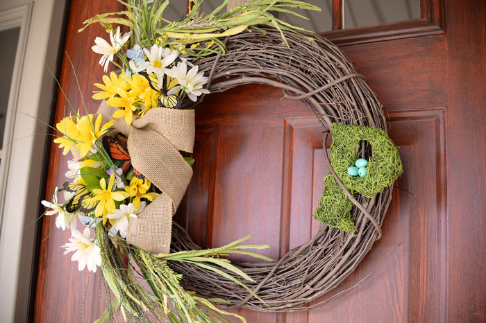 Thrifty Diy Spring Wreath Living Rich On Lessliving