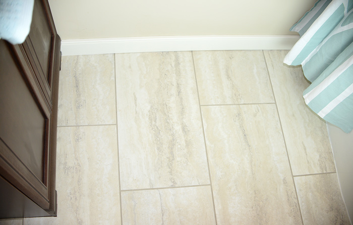 groutable vinyl tile in bathroom follow this flip bathroom before and after living rich 23296