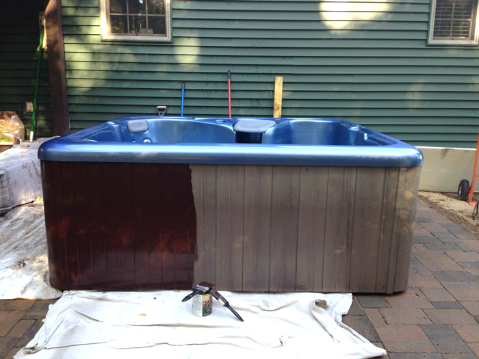 Hot Tub On A Budget Plus How To Install A Paver Patio