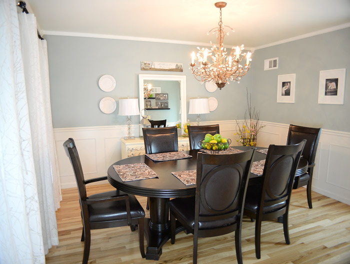 And Going Back Through The History Of Our Dining Room Colors Here S In Sherwin Williams Silvermist Also A Lovely Color